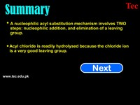 Nucleophilic acyl Substitution & Summary