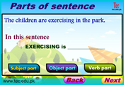 Parts of sentence