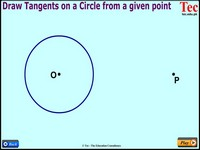 Point to Tangents on a Circle