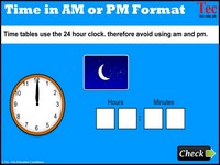 Time Clock AM And PM